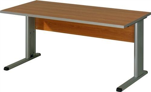 schreibtisch mit r ckwand c f en gestell alufarbig platte kirschbaum. Black Bedroom Furniture Sets. Home Design Ideas