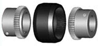 BoWex-Bogenzahn-Kupplung Nabe für M 48 mit Bohrung 35H7 NnD SINT